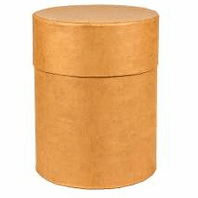16 1/2 Gallon Round All-Fiber Cardboard Drums with Fiber Lid