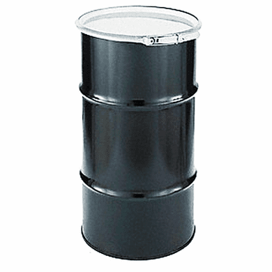 16 Gal Steel Drum Open-head-black