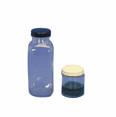 16 oz Glass Jars, With Chemical Resistant Phenolic Screw Cap,60 Pack