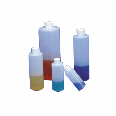16 oz HDPE Cylinder Bottles,144 Pack
