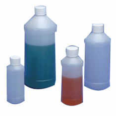 16 oz HDPE Modern Round Bottles,144 Pack