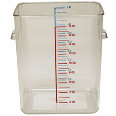 18 Quart Polycarbonate Rubbermaid Square Food Storage Containers