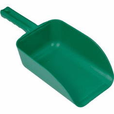 2 1/2 Quart Tough Polypropylene Scoops-Green