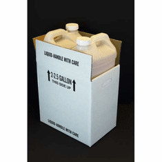 2 5 Gallon F Style Polyethylene Bottles with Shipping Boxes,2 Pack