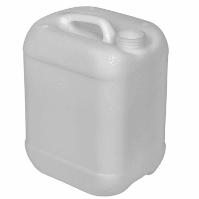 2.5 Gallon Rectangular Jug, with Integrated Handle, Natural with 51 MM Cap