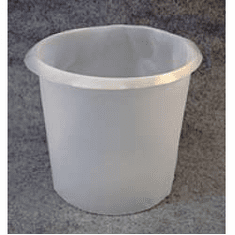 2 Gal Plastic Bucket Liner, Tapered, HDPE -10 mil, 100 Pk