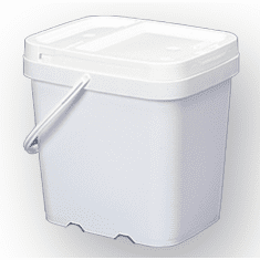 2 gal. Square Ez Stor� Bucket Pail and lid, w/handle , 6 Pack | Included Reclosable Lids