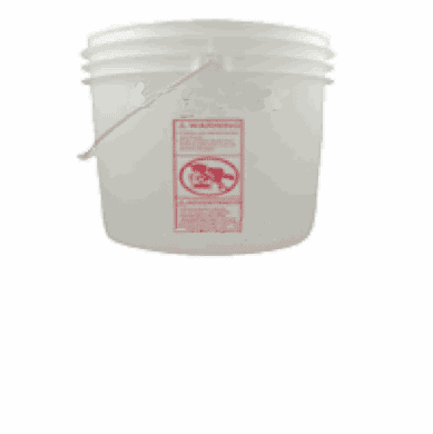 2 Gallon Plastic Bucket  | 6 Pack