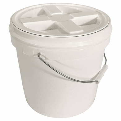 2 Gallon White Bucket With Gamma Seal Lid