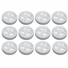 2 Gallon White Gamma Seal Lid-12 Pack