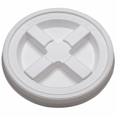 2 Gallon White Gamma Seal Lid- 3 Pk