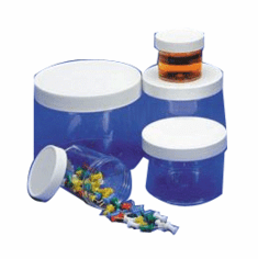 2 oz Polystyrene Wide Mouth Jars Clear Color,637 Case Pack