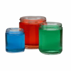 2 oz Straight Sided Glass Jars,Case of 24