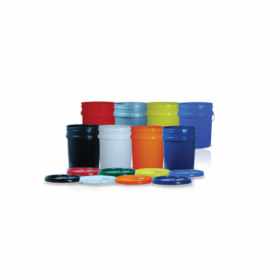 2 Pallets, 5 Gallon Plastic Bucket/Pail & Spout Lid Non-UN