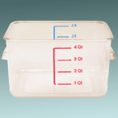 2 Quart Polycarbonate Rubbermaid Food Storage Containers