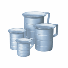 2 Quart Seamless Aluminum Measures