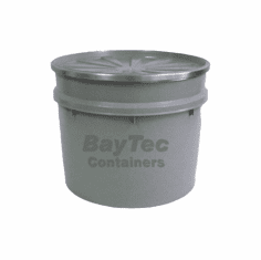 20 Gal  Plastic Drums Open-Top Tapered-Side