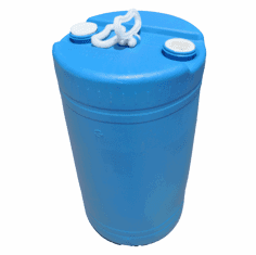 "SOLD OUT  20 Gallon Blue Recon Plastic Drum Closed-Top <br><font color=""#008000"" face=""Rockwell Bold"" >Free Shipping</font>"