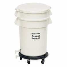 20 Gallon Rubbermaid BRUTE GreensKeeper Containers White