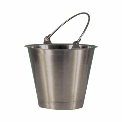 20 Quart,Stainless Steel Utility Pail,Standard Handle