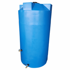 "200 Gallon  Emergency Water Storage Tank | Plastic Water Storage Storage | 36"" Diameter x 56"" Height"