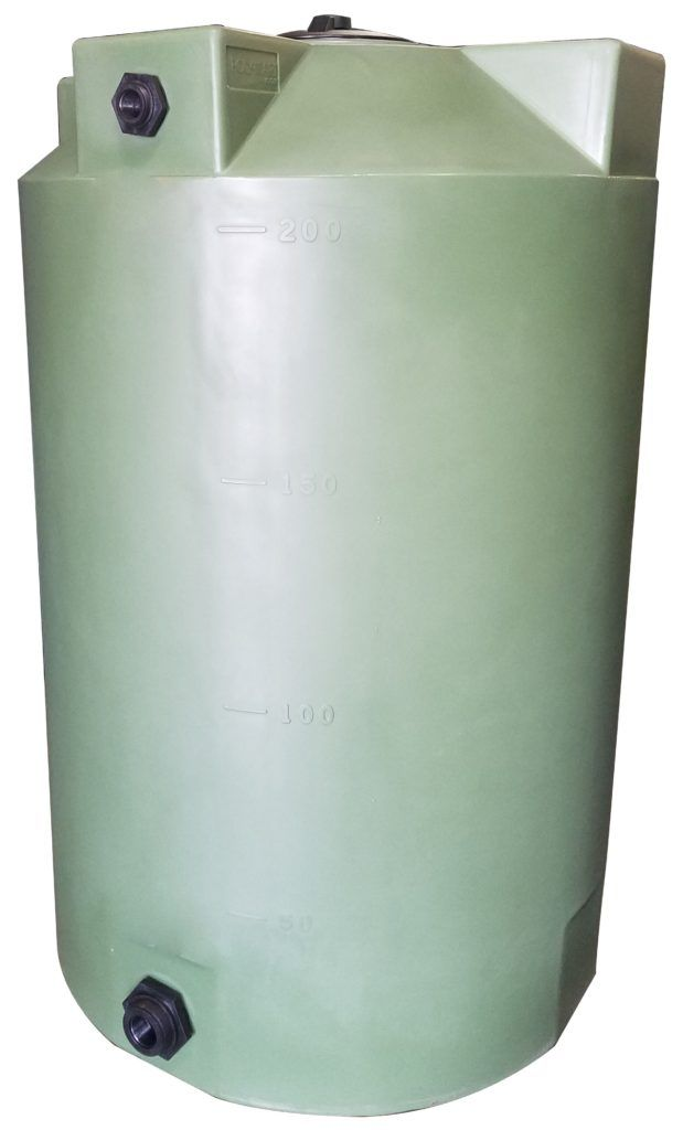 200 Gallon Plastic Water Storage Tank Long Term Water Storage 36 Diameter X 56 Height