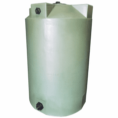 "200 Gallon Plastic Water Storage Tank | Long-Term Water Storage | 36"" Diameter x 56"" Height"