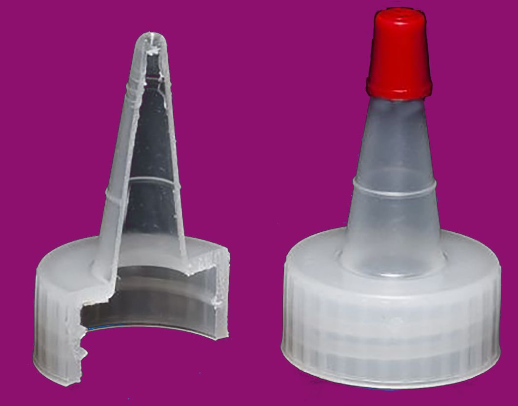 24-400 Dispensing Caps,Yorker Spout, Red Top,Size 28-400