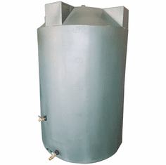 "250 Gallon  Emergency Water Storage Tank | Plastic Water Storage Storage | 36"" Diameter x 67"" Height"