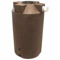 "250 Gallon Plastic Rain Water Storage Tank | Rainwater Harvesting | 36"" Diameter x 67"" Height"
