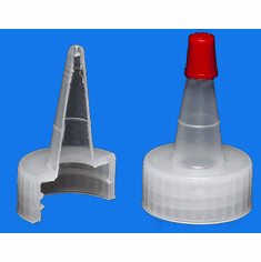 28-400  Dispensing Caps,Yorker Spout, Red Top,Size 28-400,1,000 Pack
