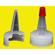 28-410 Dispensing Caps,Yorker Spout, Red Top,Size 28-410,1,000 Pack