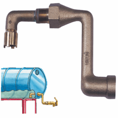 """3/4"""" Drum Siphon Package Adapter for Horizontal Draining With Faucet"""