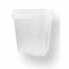 3/4 gal.Square Ez Stor® Bucket Pail and lid, 12 Pack