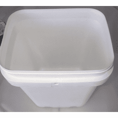3/4 gal.Square Ez Stor® Bucket Pail and lid, 12 Pack | Included Reclosable Lids