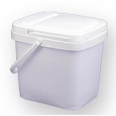 3.5 gal Square  Ez Stor® Bucket Pail and lid,w/handle, 6 Pack | Included Reclosable Lids