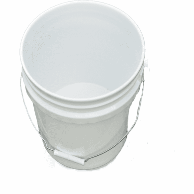 3.5 Gallon Plastic Buckets & Pails White - 3 Packs