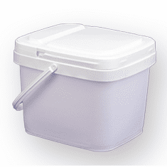 3 gal.Square Ez Stor® Bucket Pail and lid,  w/handle, 6 Pack | Included Reclosable Lids