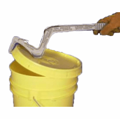 3 in 1 Pail Opener | Cast Aluminum tool - 21 inches long | Cuts, Lifts - Re-seals Opens UN-rated plastic Buckets & Pails