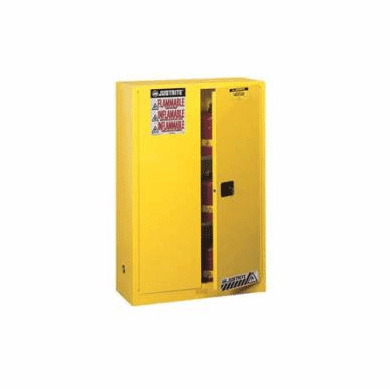 sc 1 st  BayTec Containers & 30 Gallon 44x43x18 Justrite® Manual Flammable Storage Cabinet