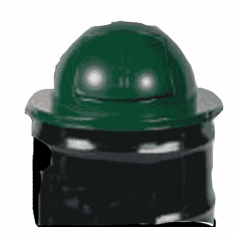30 Gallon Metal Dome Top Cover for Steel Drums, Green, Rubbermaid�