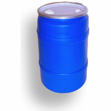 30 Gallon Plastic Drum, Open Top Lever Lock with Fittings