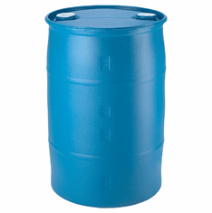 30 Gallon Plastic Drums New - Choose Blue, White or Black