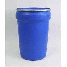 30 Gallon Plastic Drums Open-Top Tapered-sided