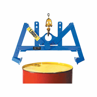 30 Gallon, Steel - MORSE® Automatic Drum Lifter