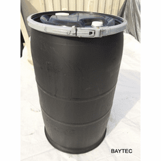 30 Gallon Used Reconditioned Open Top Black Barrel