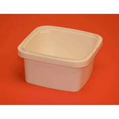 32 oz White IPL Square Container, 100 Case Pack