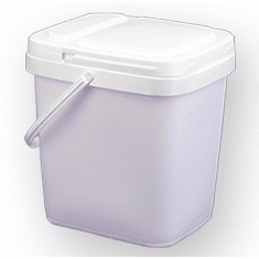 4 gal.Square Ez Stor® Bucket Pail and lid,  w/handle , 6 Pack | Included Reclosable Lids