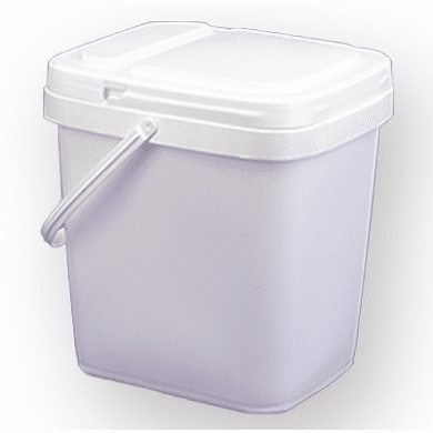 4 gal.Square Ez Stor® Bucket Pail and lid,  w/handle , 6 Pack