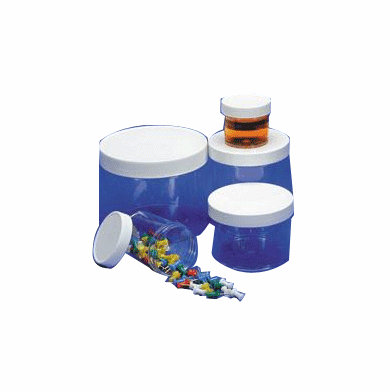 4 oz Polystyrene Wide Mouth Jars Clear Color,400 Case Pack